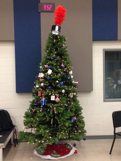 Christmas tree brightens band hall