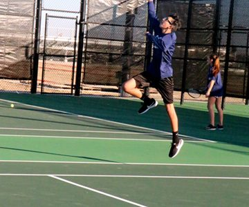 Start of tennis season, Westwood tournament